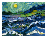 Seascape with Van Gogh&#39;s Sky