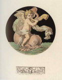 Cherub on Dolphin with Trumpet II