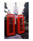 Phone Boxes with Flags