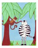 Safari Friends Zebra and Monkey