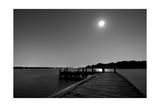 Luna y Lago BW