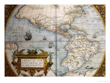Map of America from Theatrum Orbis Terrarum
