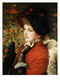 Type of Beauty: Portrait of Mrs Kathleen Newton  in Red Dress and Black Bonnet