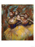 Three Dancers (Yellow Skirts  Blue Blouses)