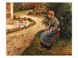 The Maid Sitting in the Garden at Eragny