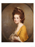 Portrait of Dorothy Hodges (1752-1800)  Half-Length  in a Yellow Dress