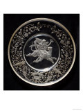 A J& L Lobmeyr Engraved Circular Dish