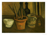Still Life of Paintbrushes in a Flowerpot