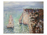 L'Aiguille and the Porte D'Eval  Etretat  1886