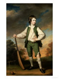 The Young Cricketer: Portrait of Lewis Cage  Full-Length  in a Green Waistcoat and Breeches