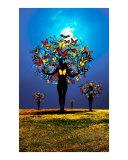 butterfly women tree
