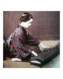 Japanese Woman Playing Koto