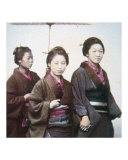 Young Japanese Women in Kimono