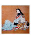 Seated Japanese Aristrocrat in Kimono