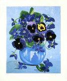 Blaues Blumenstilleben  2000