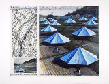 The Blue Umbrellas II Reproduction d'art par Christo