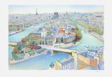 Paris  panorama vers l'Ouest I
