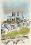 Paris  Panorama Sur Notre Dame