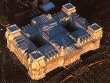 Reichstag West und Nordfassade aus der Luft