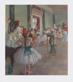 Classe de Danse Reproduction pour collectionneurs par Edgar Degas