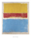 Sans titre, jaune, rouge et bleu, vers 1953 Reproduction d'art par Mark Rothko