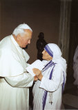 Pope John Paul and Mother Teresa
