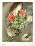 Woman  Flowers and Bird