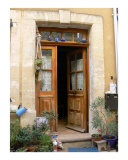 Doorway with Blue Teapots