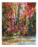 Monet's Bridge - Impressionism by Ginette