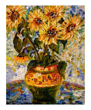 Sunflowers in Provence Pottery