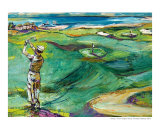 Swing - Golf Painting - Vintage Golfer