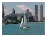 Sailboat on Chicago Harbor