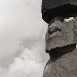 Low angle view of a Moai statue  Easter Island  Chile
