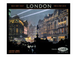 Piccadilly Circus  LNER poster  1923-1947