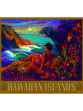 Hawaii Napali Kauai Coast Surf Poster