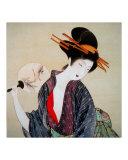 Japanese Geisha with Fan