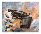 38 Special - Revolver and Bullets - The Artist&#39;s Gun