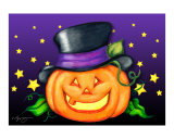 Halloween Jack-O-Lantern - Top Hat Pumpkin