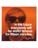 Fifteen Minutes Reproduction d'art par Andy Warhol