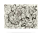 N° 14, gris Reproduction d'art par Jackson Pollock