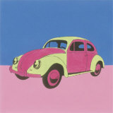 Pink and Green Volkswagon Bug