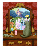 The Chimera Vanity : Fairy Cat Antique Mirror