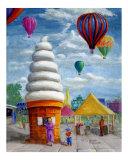 Impressionistic Carnival Landscape