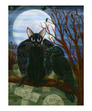 Raven's Moon : Gothic Cat Crow Wings