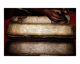 Old Tibetan sacred manuscript medicine tantra Tashi Palkhiel refugee camp Pokhara Nepal