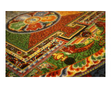Sand Buddhist mandala close up