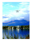 Floatplane landing in Anchorage  AK
