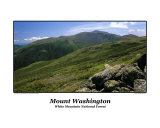 Mount Washington from Gulfside Trail Located in White Mountain National Forest in New Hampshire