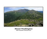 Mount Washington from Gulfside Trail in the White Mountain National Forest in New Hampshire