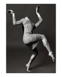 Dancer in leopard spot dress